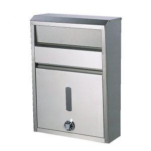 ダイヤル錠付きステンレス製ポスト メイワ ステンレスポスト SGT-800